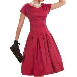 Tatyana Vintage Shiny Red Pin Up Dress